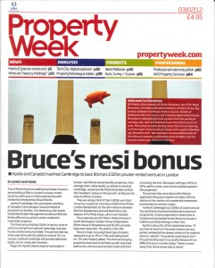 Property Week front page - Bruce's resi