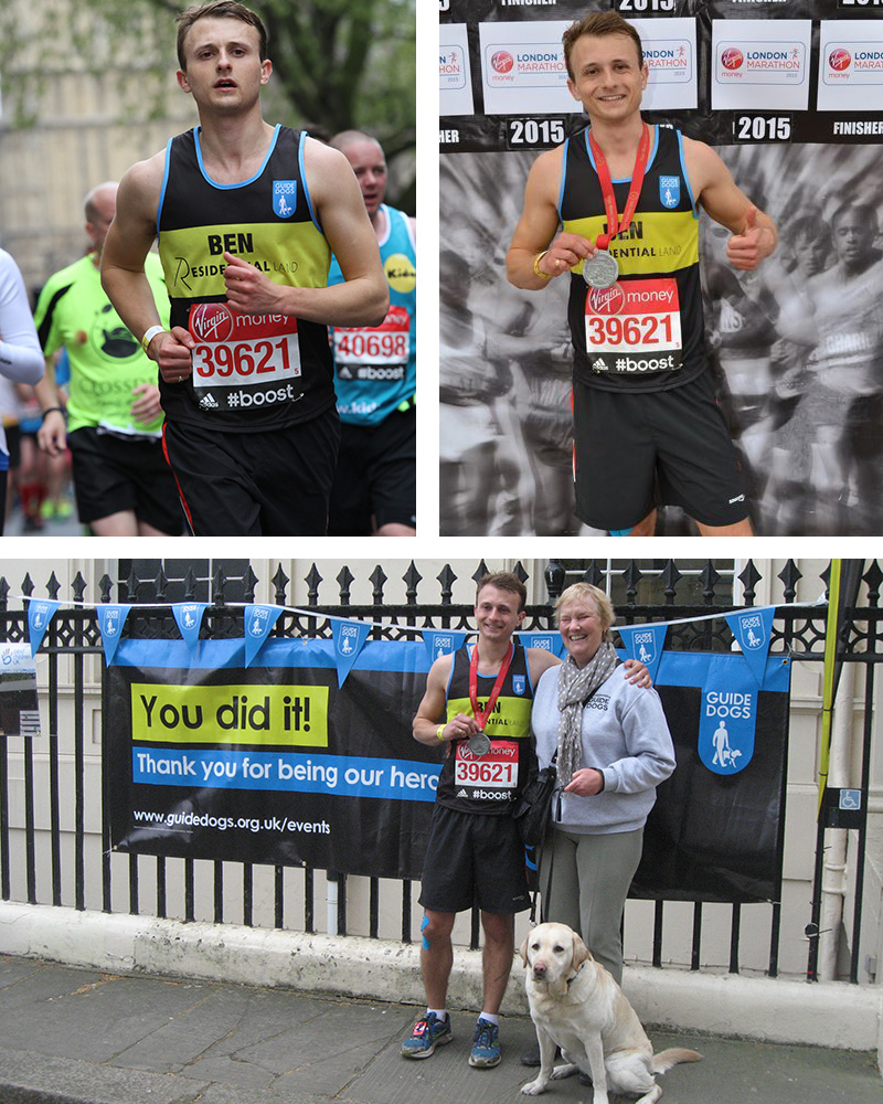 Residential Land are proud to have sponsored Ben Wilberforce-Ritchie's London Marathon triumph