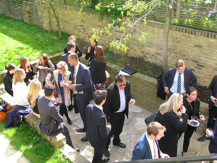 Great success at the Lexham Gardens agent's garden party