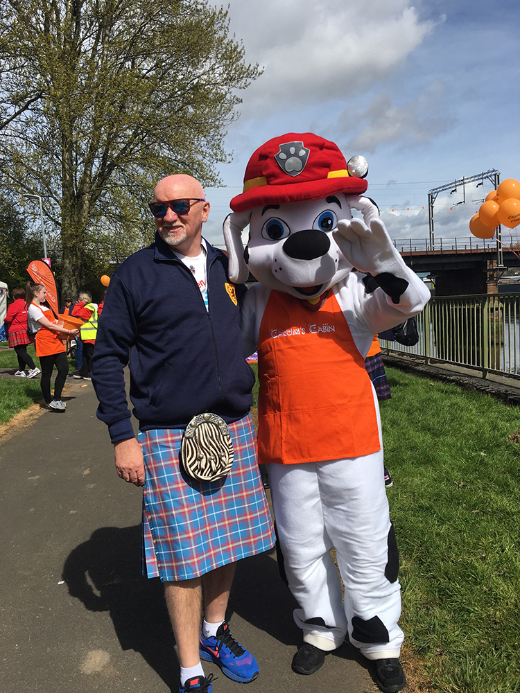 Residential Land sponsors Sir Tom Hunter's 'kiltwalk'