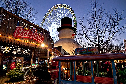 Santa Land in Hyde Park is a popular attraction for families living in rental property in the vicinity