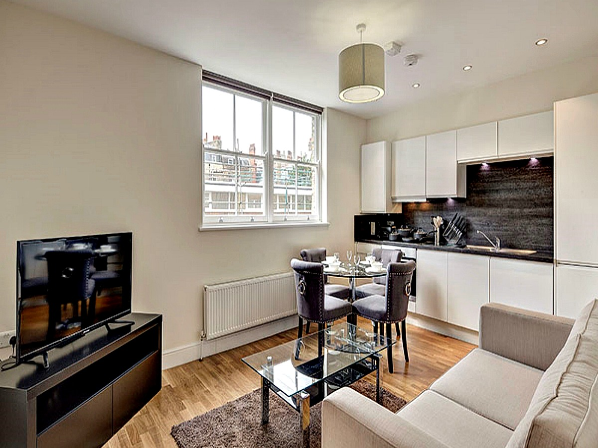 This open plan, refurbished, luxury W6 apartment to rent features a contemporary kitchen, polished wooden flooring and large windows letting in natural light. Its red-brick Victorian facade is eye-catching. Amenities include CCTV and an on-site building manager