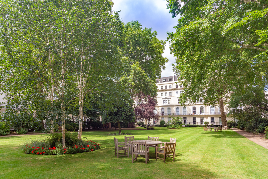 private residents-only garden square